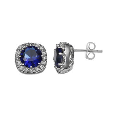 Sparkle Allure™ Blue Cubic Zirconia Stud Earrings