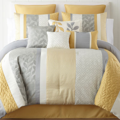 Home Expressions™ Sheridan Striped 10-pc. Comforter Set