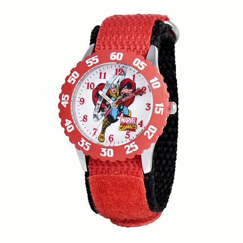 Marvel® Thor Kids Red Nylon Strap Watch