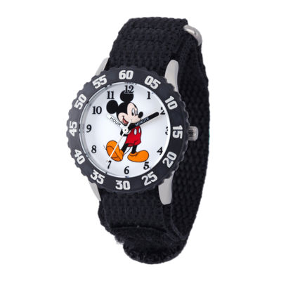 Disney Mickey Mouse Kids Black Nylon Strap Watch