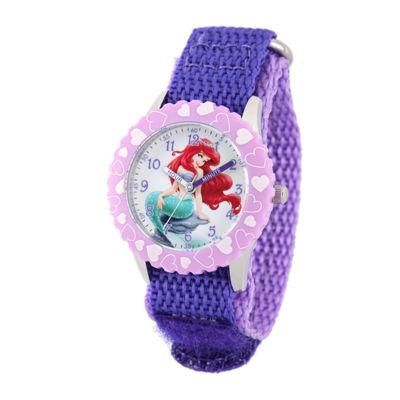 Disney Ariel Kids Purple Nylon Strap Watch