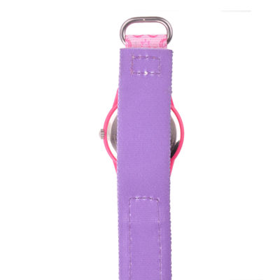 Disney Belle  Kids Pink Printed Nylon Strap Watch