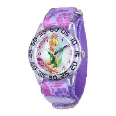Disney Tinker Bell Kids Multicolor Printed Nylon Strap Watch