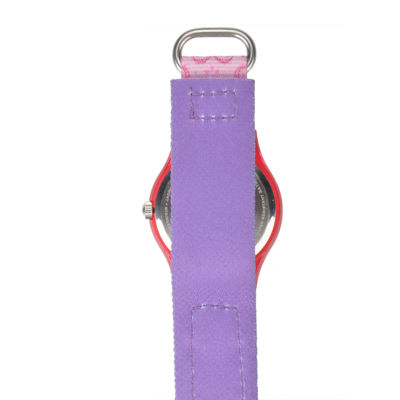 Disney Belle Rapunzel Princess Kids Pink Printed Nylon Strap Watch