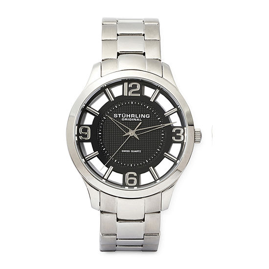 Stührling® Original Mens Stainless Steel Spoke-Style Watch 8123.04