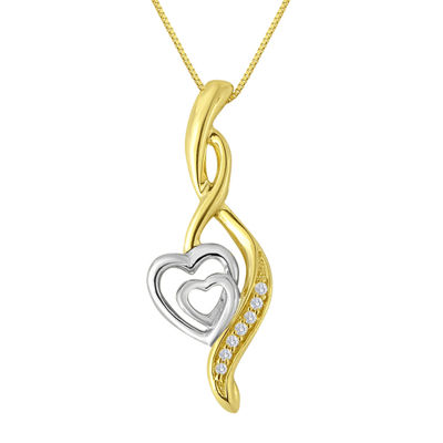 ForeverMine® Diamond-Accent 10K Two-Tone Gold Pendant