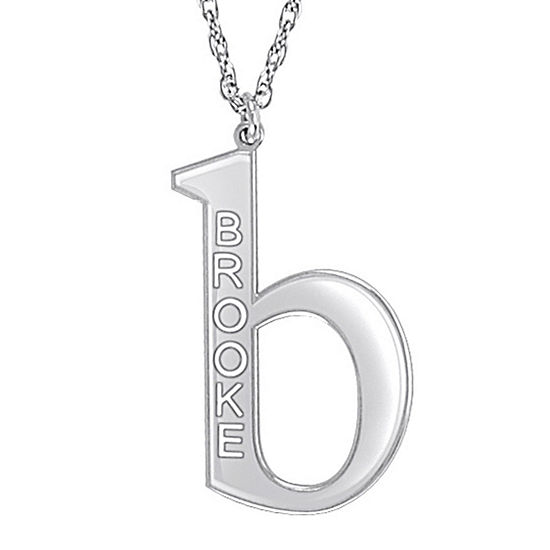 Personalized 28mm Initial Pendant Necklace