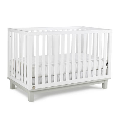 Fisher-Price Riley Island Snow-White and Misty-Grey Crib