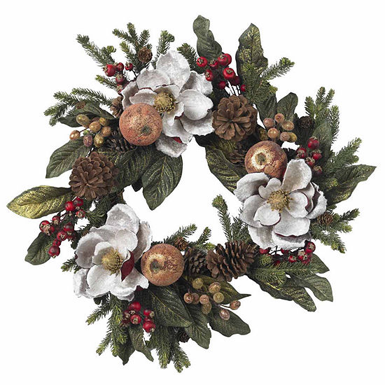 Nearly Natural 24in Indoor Christmas Wreath