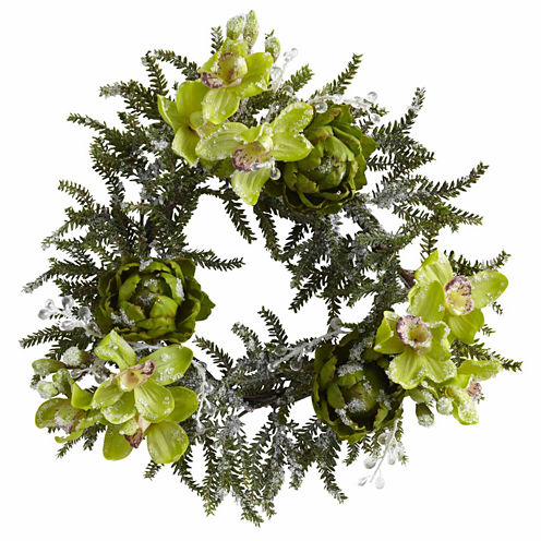 Nearly Natural 22in Indoor Christmas Wreath