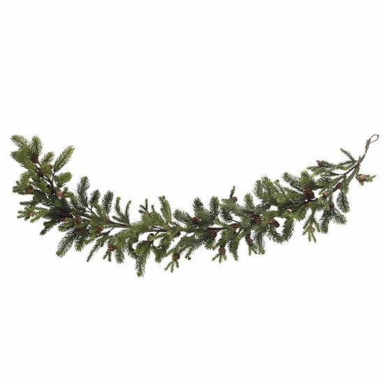 Nearly Natural 25in Teardrop Indoor Christmas Wreath