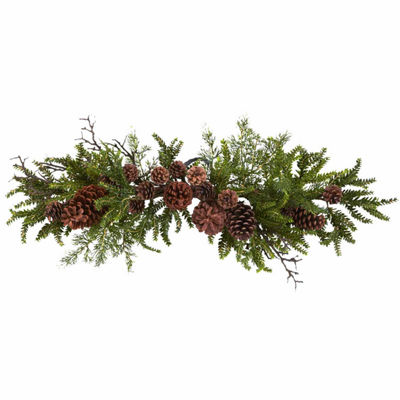 Nearly Natural 28in Teardrop Indoor Christmas Wreath
