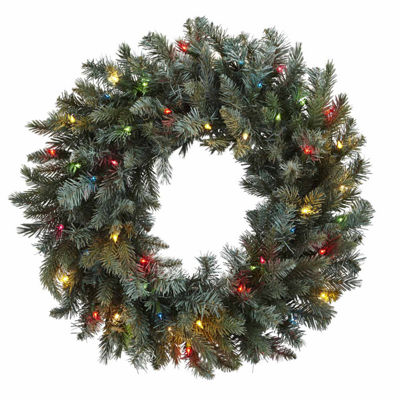 Nearly Natural 30in Lighted Indoor Christmas Wreath