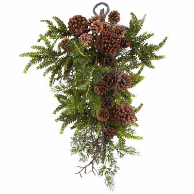 Nearly Natural 72in Hydrangea Indoor Christmas Garland