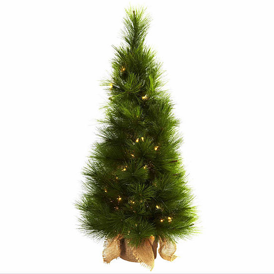 Nearly Natural 3ft Burlap Bag Christmas Tree