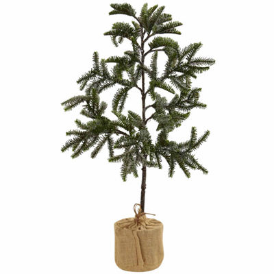Nearly Natural 3ft Iced Pine Christmas Tree