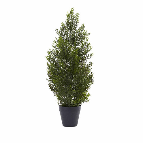 Nearly Natural 2ft Mini Cedar Christmas Tree