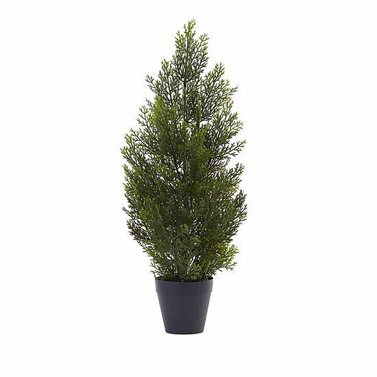 Nearly Natural 2ft Mini Cedar Christmas Tree