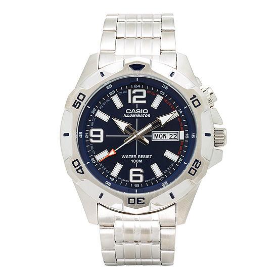 Casio Mens Silver Tone Stainless Steel Bracelet Watch-Mtd1082d-2avcf