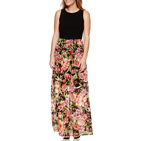 Ronni Nicole Sleeveless Floral Maxi Dress