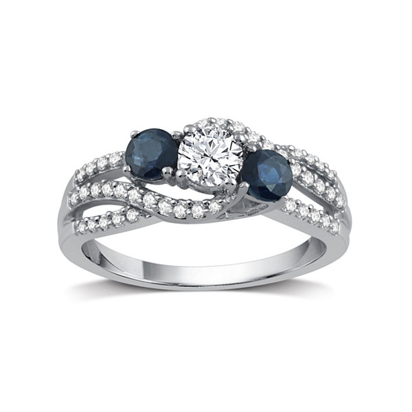 Fine Jewelry Womens 5/8 CT. T.W. White Diamond 10K Gold Cocktail Ring OHXcRTCv