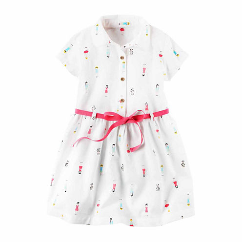 Carter'S Short Sleeve A-Line Dress - Preschool