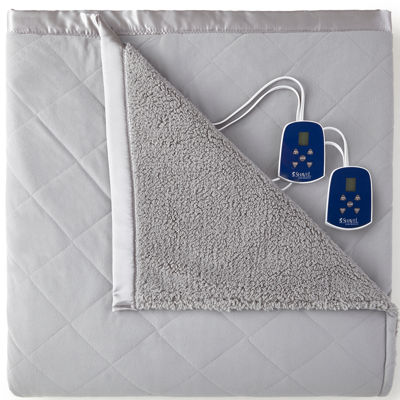 Micro Flannel® Reverses to Sherpa Heated Blanket