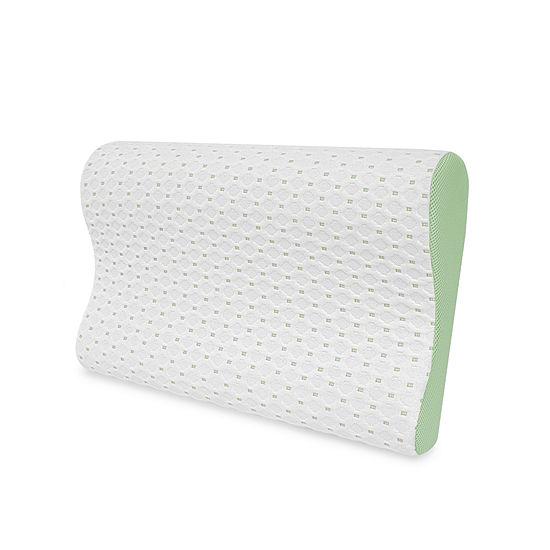 Sensorpedic Sensorcool Gel Overlay Contour Memory Foam Bed Pillow
