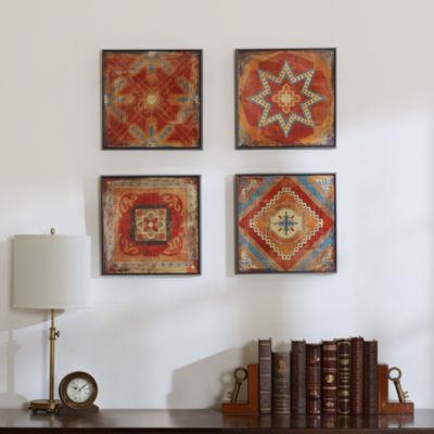 Madison Park Moroccan Tile Alternative Graphic 4-pc. Canvas Art