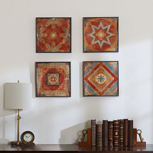 Madison Park Moroccan Tile Alternative Graphic 4-pc. Canvas Art