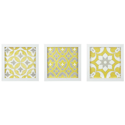 Madison Park Tuscan Tiles Roll Gel Coat Shadow Box 3-pc. Canvas Art