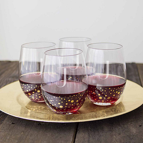 Cathy's Concepts Gold Dot 4-pc. Wine Glass