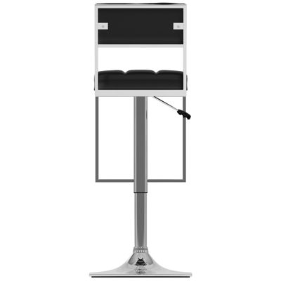 Square Tufted Adjustable 2-pack Bar Stool
