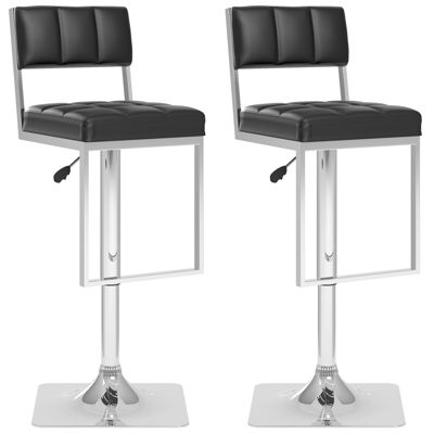 Square Tufted Adjustable 2-pc. Bar Stool