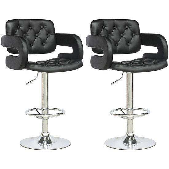 Fine Tufted Adjustable 2 Pc Tufted Bar Stool Lamtechconsult Wood Chair Design Ideas Lamtechconsultcom