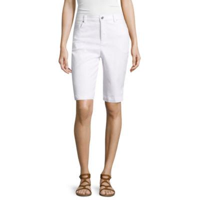 """Gloria Vanderbilt 10"""" Classic Fit Twill Bermuda Shorts"""