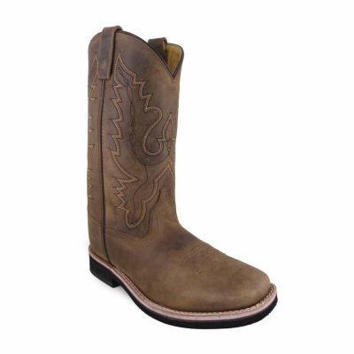 "Smoky Mountain Women's Pueblo 10"" Crazy Horse Leather Cowboy Boot"