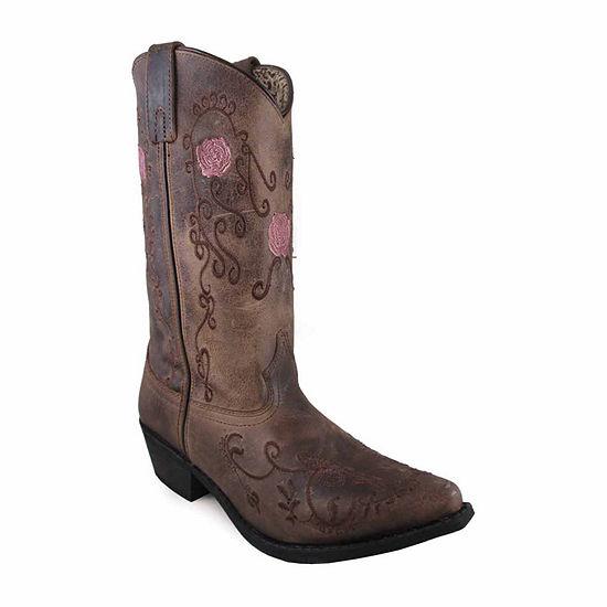 Smoky Mountain Womens Rosette Cowboy Boots