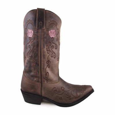 "Smoky Mountain Women's Rosette 11"" Oil Distress Leather Cowboy Boot"