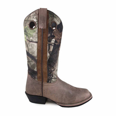 "Smoky Mountain Women's Tupelo 12"" Distress Camo Leather Cowboy Boot"