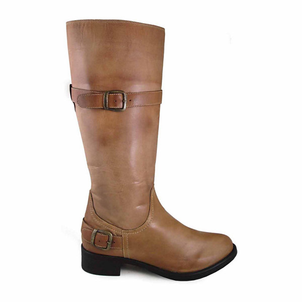 "Smoky Mountain Women's Donna 14"" Bomber Leather Tall Boot with Buckles"