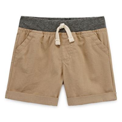 Okie Dokie Pull-On Canvas Shorts - Baby Boy NB-24M