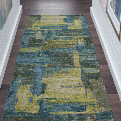 Tayse Dynasty Fontana Rectangular Runner