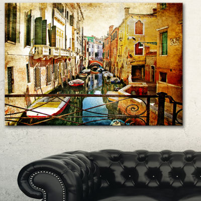 Design Art Amazing Venice Cityscape Canvas Art Print