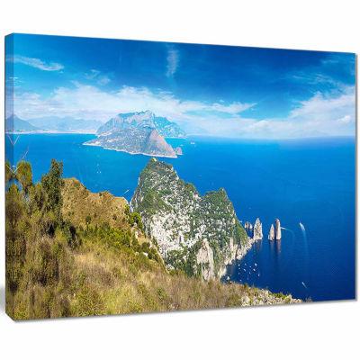 Designart Capri Island In Italy Photography CanvasArt Print