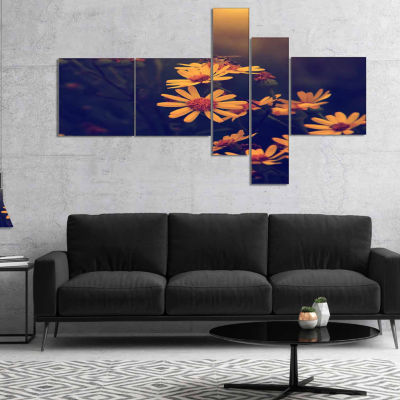 Design Art Sunrise On The Mediterranean Sea Canvas Art Print - 3 Panels
