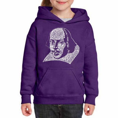 Los Angeles Pop Art The Titles Of All Of William Shakespeare'S Comedies & Tragedies Long Sleeve Sweatshirt Girls