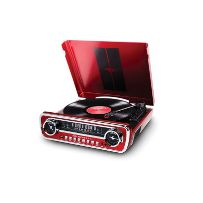 Ion Audio IT69 Mustang LP Red 4-in-1 Classic Car-Styled Music Center