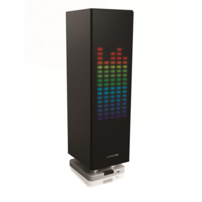 Sharper Image SBT1003BK Wireless Bluetooth Party Speaker with LED Lights