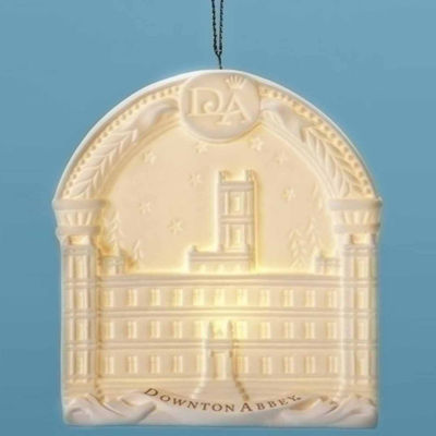 """4.25"""" Arched Downton Abbey Highclere Castle Porcelain Decorative Christmas Ornament"""""""
